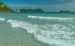 Thailand beach in springtime. Life on a beach of thailand in my vacation Stock Photos