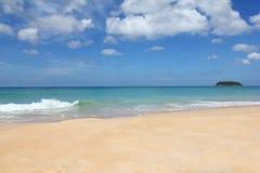 Thailand beach. Thailand summer beach, blue sky and clear water Stock Photos