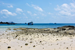 Thailand Beach in summer. With boat Royalty Free Stock Photos