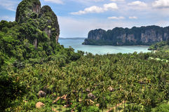 Thailand Beach Temple Rocks Krabi Royalty Free Stock Photography