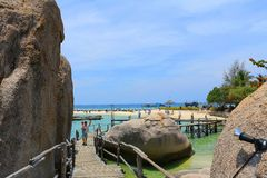 Thailand. The beautiful beach Koh-Tao in south of Thailand Royalty Free Stock Images