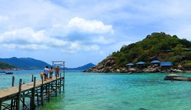 Thailand. The beautiful beach Koh-Tao in south of Thailand Stock Photo