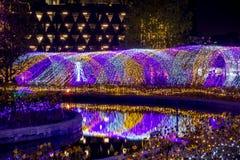 Thailand-Beleuchtungs-Festival 2017 auf Ratchadapisek Soi 8, Bangkok, Thailand auf December21,2017: Leuchten Sie Weihnachtsbaum u Stockfotos