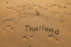 Thailand - Beschreibung auf dem Meersand Lizenzfreies Stockfoto