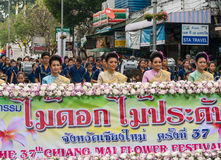 THAILAND blommafestival arkivbild