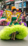 THAILAND blommafestival arkivfoto