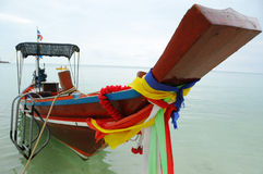 Thailand boat. Thai boat on sea in the south of Thailand Stock Images