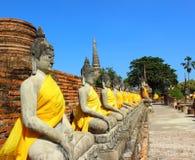THAILAND BOEDHA IN AYUTTHAYA Stock Foto's