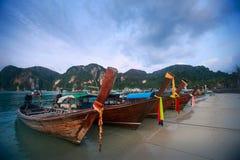 Thailand-Boote am frühen Morgen in Thailand Stockbilder