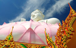 Thailand buddha statue. Buddha statue with blue sky in the background, Thailand Stock Photos