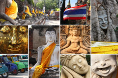Thailand Buddha statues Royalty Free Stock Images
