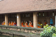 Thailand buddhist Monk learning English Royalty Free Stock Image