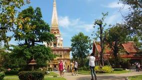 Thailand Buddhist Temple of Wat Chalong Phuket - Thailand Tourism stock footage