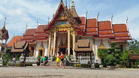 Thailand Buddhist Temple of Wat Chalong Phuket - Thailand Tourism stock video footage