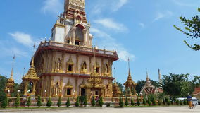 Thailand Buddhist Temple of Wat Chalong Phuket - Thailand Tourism stock video