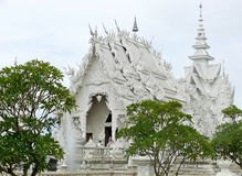 Thailand - Buddhist white temple. The white temple of Chiang Rai royalty free stock image