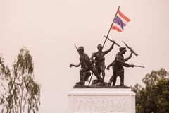 THAILAND BURIRAM RAO SU MONUMENT. The Rao Su Monument at the town of Non Din Daeng south of the city of Buriram in the province of Buri Ram in Isan in Northeast stock photos