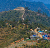 Thailand Burma Border Landscape at Doi Ang Khang Stock Photo