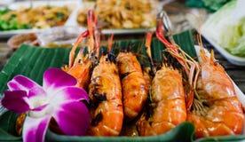 Thailand Burn Shrimp Stock Image