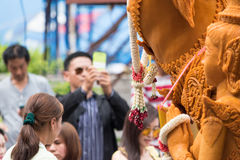 Thailand Candle Festival in Nakhon Ratchasima. Royalty Free Stock Image