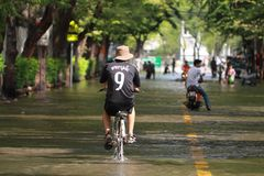 Thailand capital flood. Stock Photo