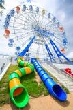 THAILAND CHA-AM PETCHBURI LANDSKAP JUNI 29, 2012: Ferris Wheel Fotografering för Bildbyråer