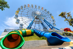 THAILAND CHA-AM PETCHBURI LANDSKAPMACH 30, 2014: Ferris Wheel Royaltyfria Bilder