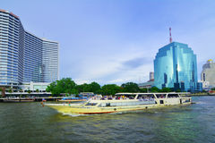 Thailand Chao Phraya River scenery Royalty Free Stock Images