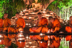 Thailand, Chiang mai June 06,2015 - Visakha Puja Day, The cerem royalty free stock photography