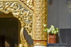 Thailand Chiang Mai, tempel Wat Jedlin arkivfoton