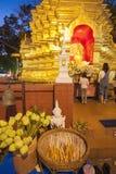 Thailand Chiang Mai, Wat Phan On royaltyfri fotografi