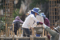 THAILAND CHIANG RAI CONSTRUCTION WOMEN WORKER Royalty Free Stock Photography