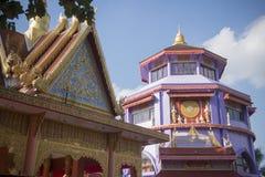 THAILAND CHIANG RAI MAE SAI TEMPEL Arkivfoto