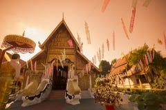 THAILAND CHIANG RAI WAT PHRA SINGH Royalty Free Stock Photo