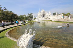 Thailand Chiang Rai White Temple, Wat Rong Khun Royalty-vrije Stock Afbeelding