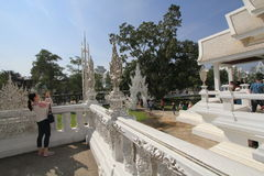 Thailand Chiang Rai White Temple, Wat Rong Khun Stock Images