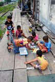 Thailand Children. Children in Poor Area of Thailand Royalty Free Stock Images