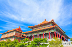 Beautiful traditional chinese temple with blue sky Stock Photography