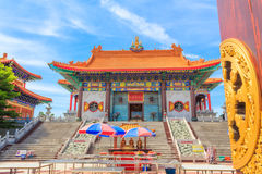 Entrance to traditional chinese style temple at Wa Stock Photo