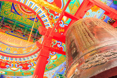 Big Bell and ring ceiling painting traditional chi Royalty Free Stock Images