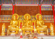 Buddha chinese Temple at Wat Leng Noei Yi in Nonth Royalty Free Stock Images