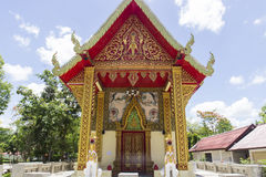 Thailand church architecture. Art of thailand temple church architecture Royalty Free Stock Photos