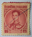 A stamp printed in Thailand shows King Bhumibol Adulyadej prince of Siam, circa 1963, 25 satang Royalty Free Stock Images