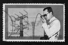 Thailand - CIRCA 1997:A stamp printed in Thailand shows royal initiated projects, circa 1997 Stock Images