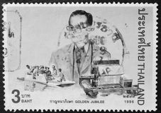 Thailand - CIRCA 1996:A stamp printed in Thailand shows royal initiated projects, circa 1997 Royalty Free Stock Image