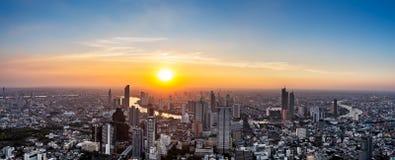 Thailand cityscape on sunset stock photos