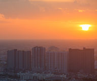 Thailand cityscape with sunset Stock Image