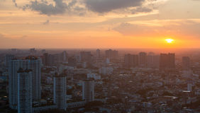 Thailand cityscape with sunset Royalty Free Stock Photos