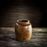 Thailand Clay Jar for Stored of thai food, Stock Photo