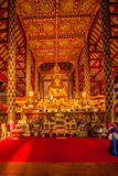 Thailand clear Maisong De temple hall. Ostersund Temple was built in the 14th century palace gardens of the industry within the country largest temple dedicated Stock Photos
